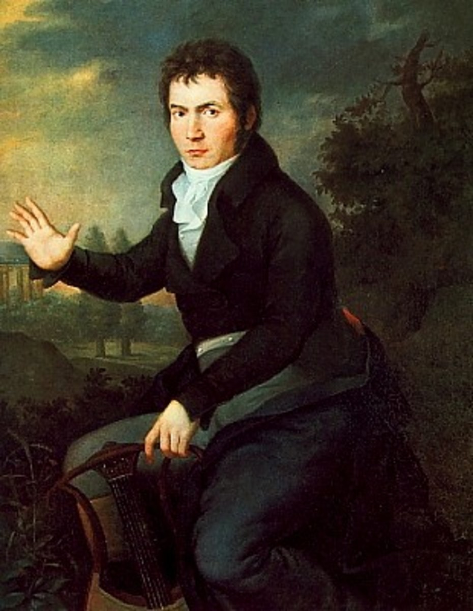 Beethoven painting by Joseph Mahler