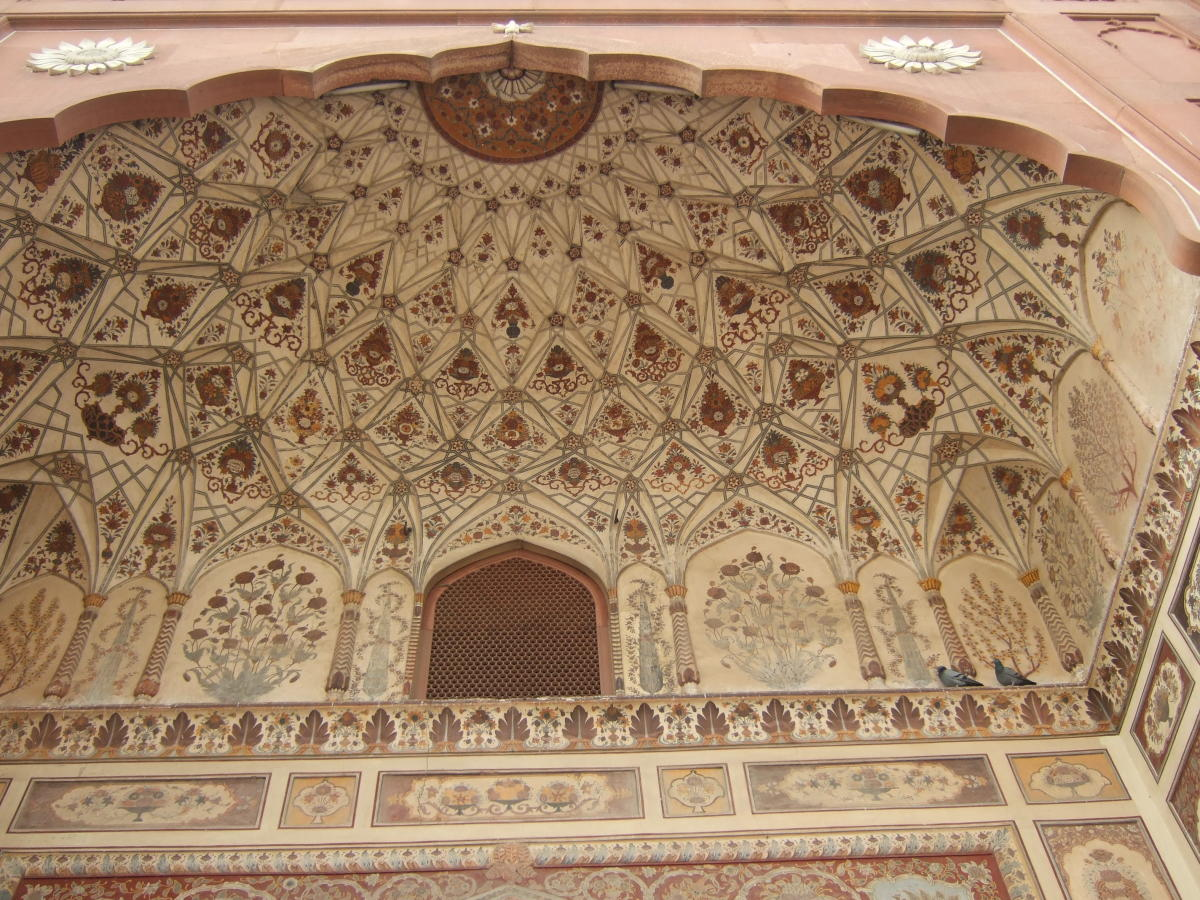 A section of the ornate decorations