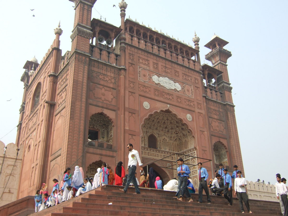 The main entrance to the Mosque