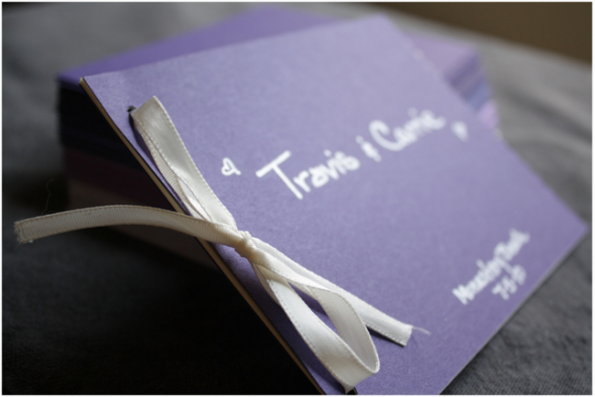 Making your own wedding stationery - whether it's save-the-dates, invitations or programs - can save quite a lot of money.