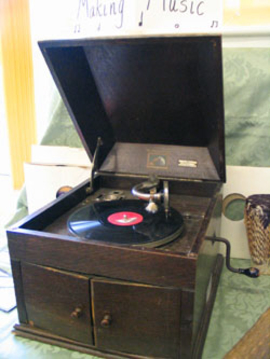 We had the old wind up gramophone when I was young, and after we got the radiogram, I was allowed to use this wind up gramophone unsupervised but not the new radiogram.