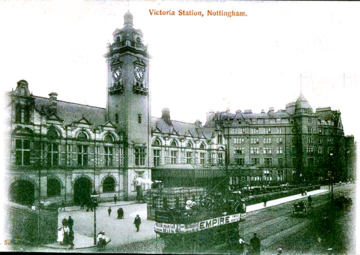 This is a very old photograph of The Victoria Station but it looked pretty much the same on the outside throughout its lifetime.