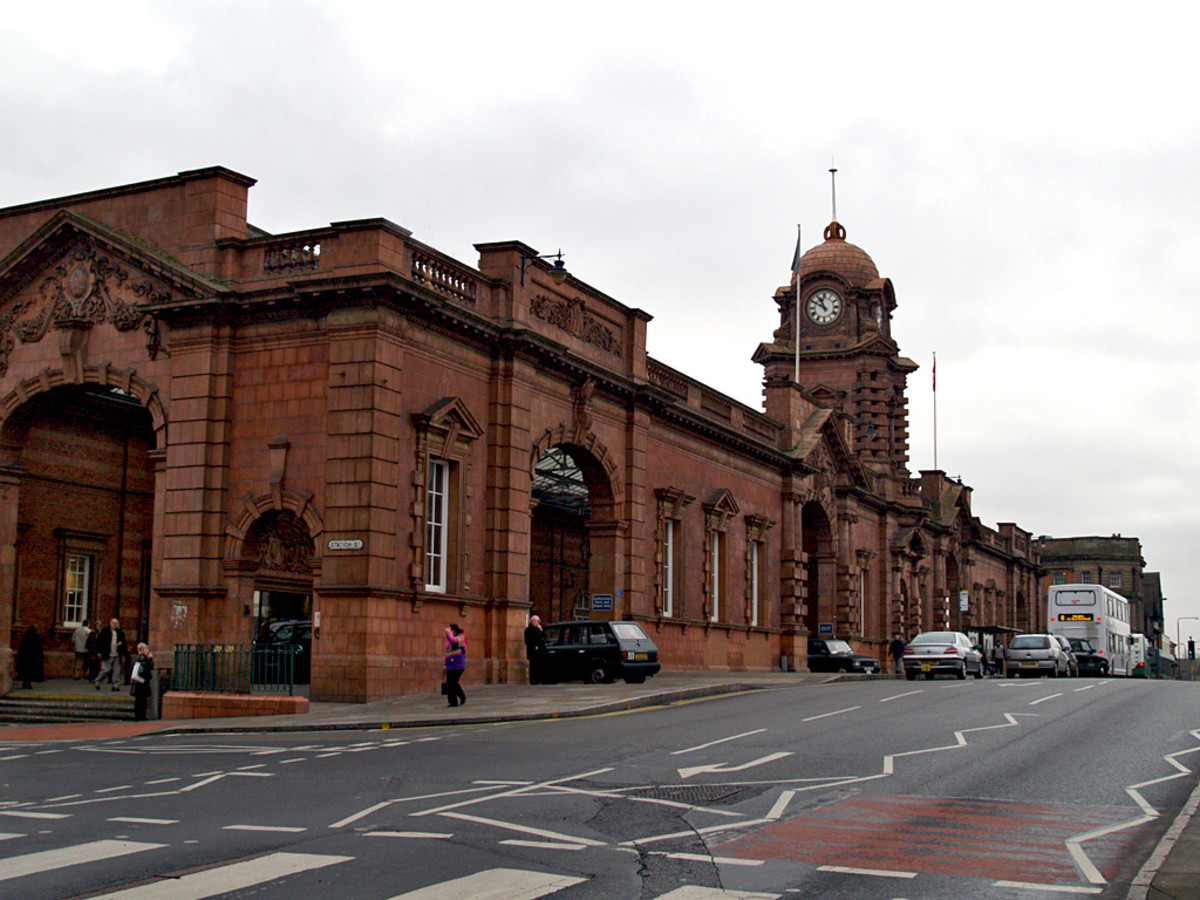 This is a fairly modern photo of the Midland Station and like the Victoria the out side of the station has remained pretty much unchanged.