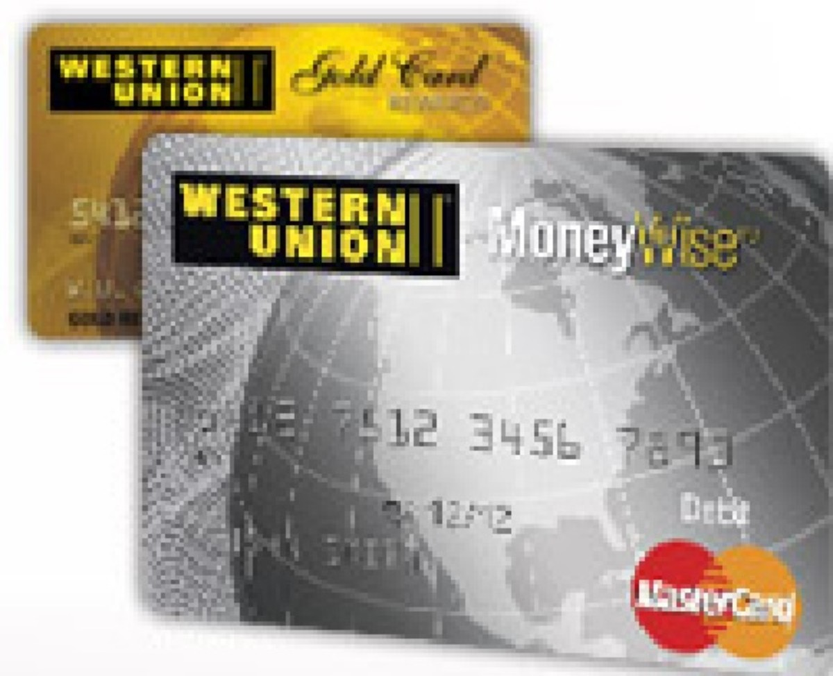 Western Union Prepaid Debit Gold and Silver card