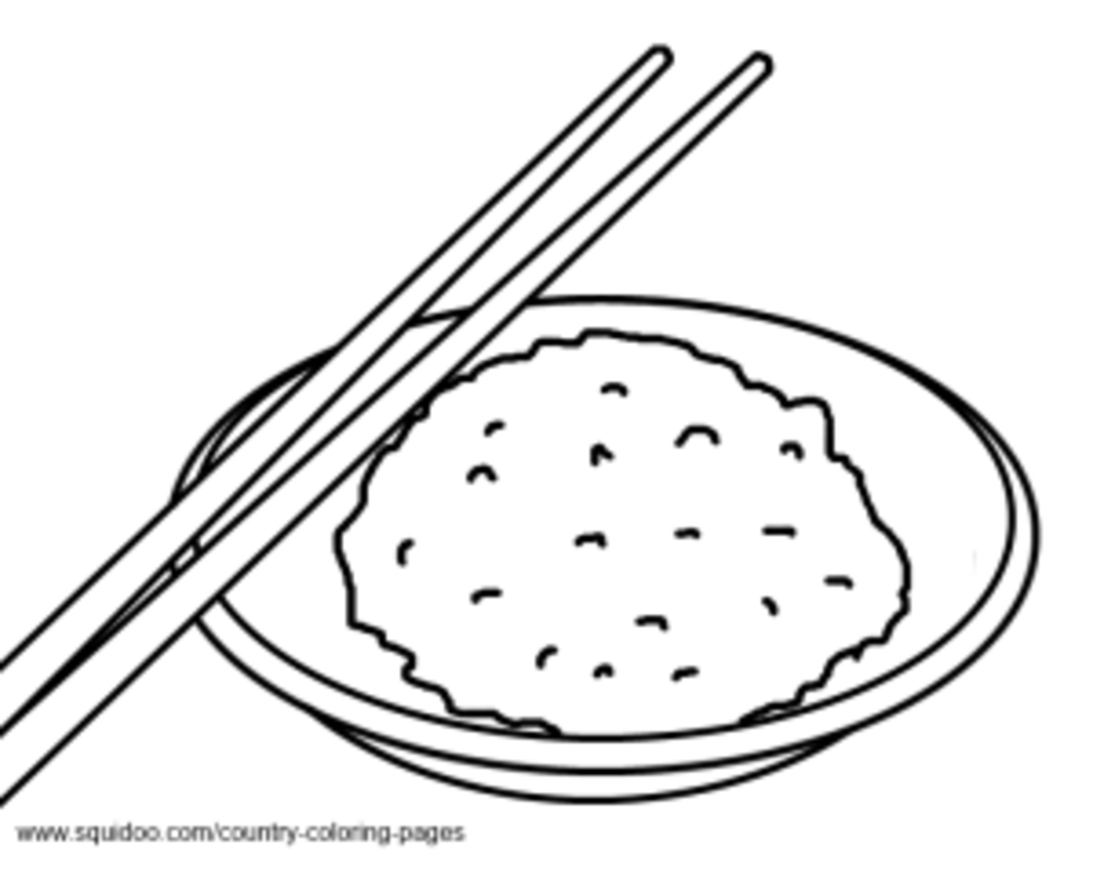 rice coloring page - rice coloring pages