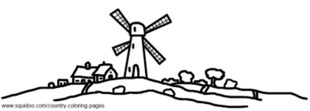 Holland / Netherlands Coloring Pages