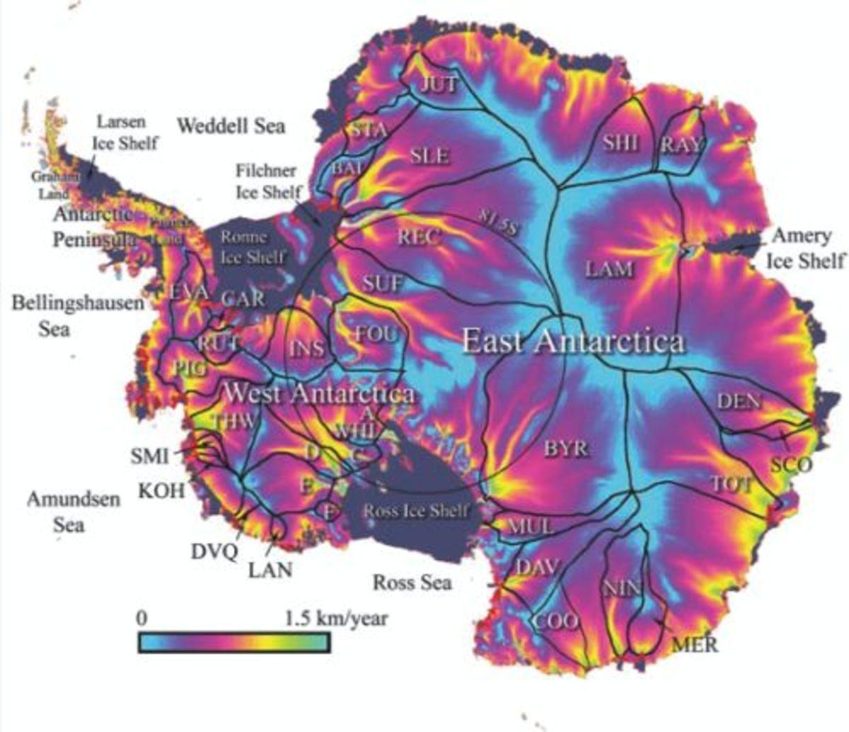 Antarctica Surface Deformation -    BRITISH ANTARCTIC SURVEY