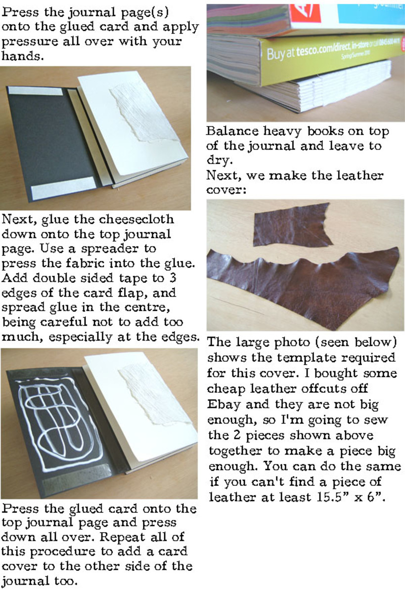 Leather Book Cover Photo Tutorial : How to make a leather journal book binding tutorial