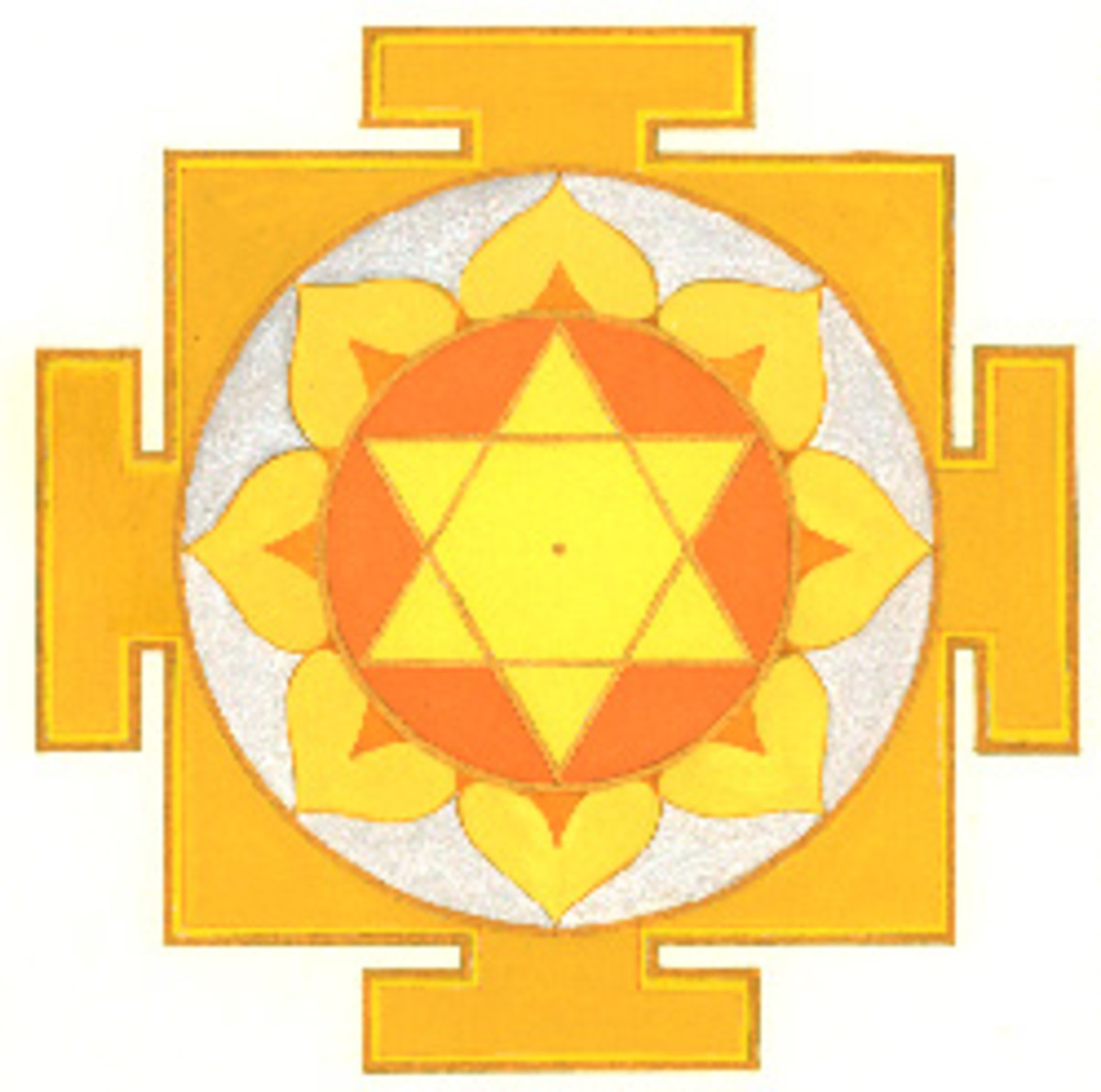 Painting of a Jupiter yantra