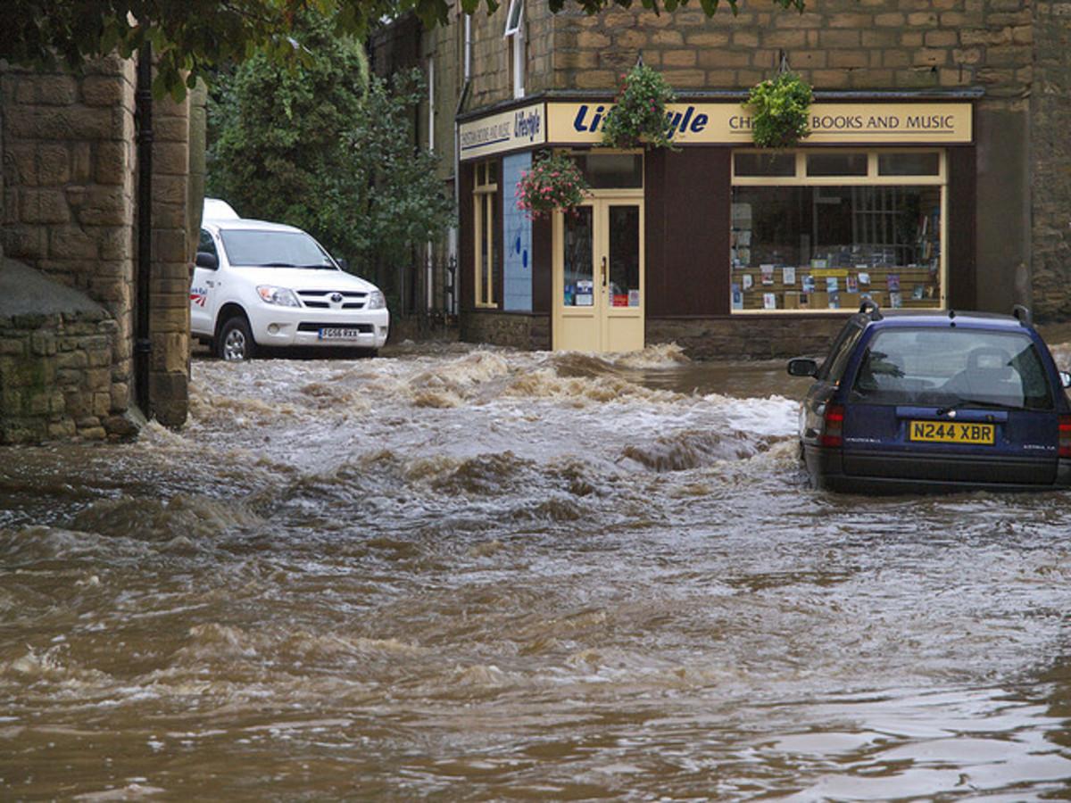 Floods, Morpeth, UK