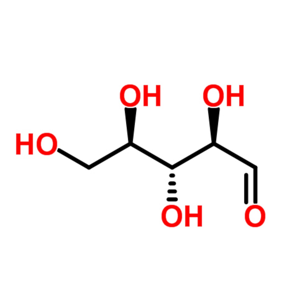 D-Ribose Chemical Structure (the image taken from ChemSpider.com)