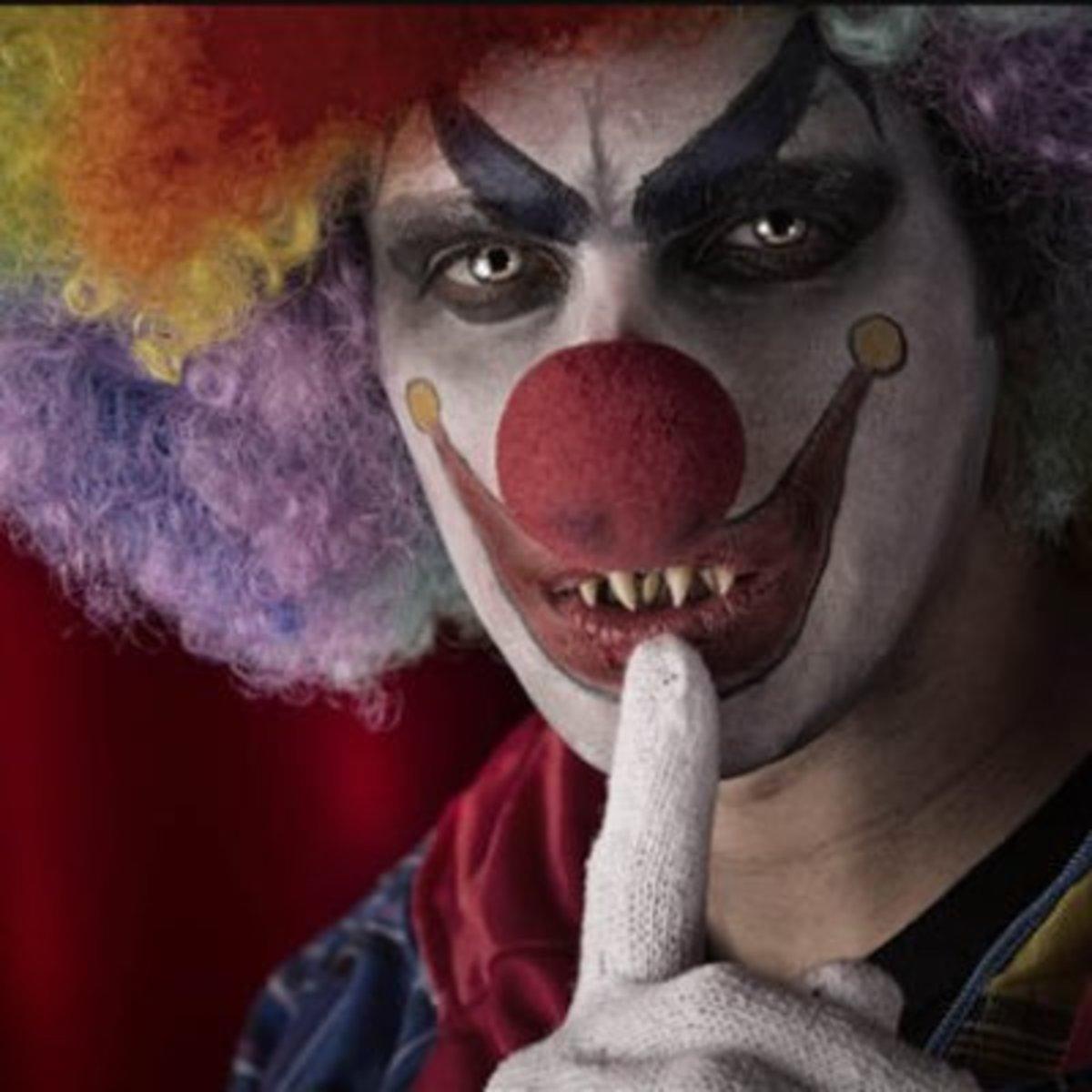 Killer clowns not allowed here   Source