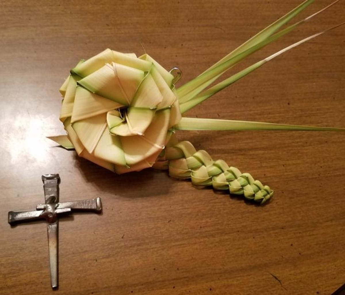 How to Make a Palm Sunday Corsage with Rose