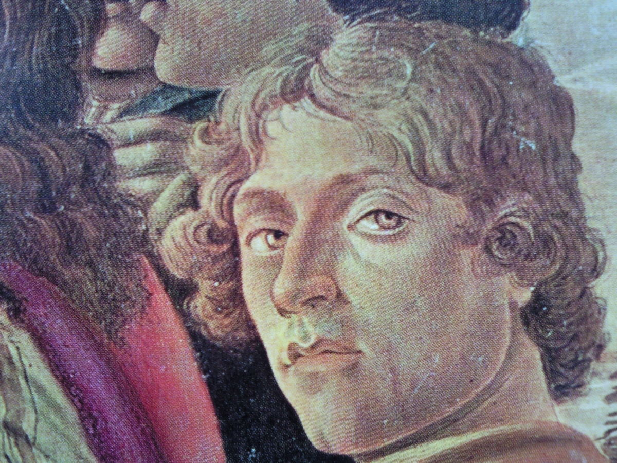 "PROABALE SELF-PORTRAIT FOUND IN THE ""ADORATION OF THE MAGI."" (1475-1476)"