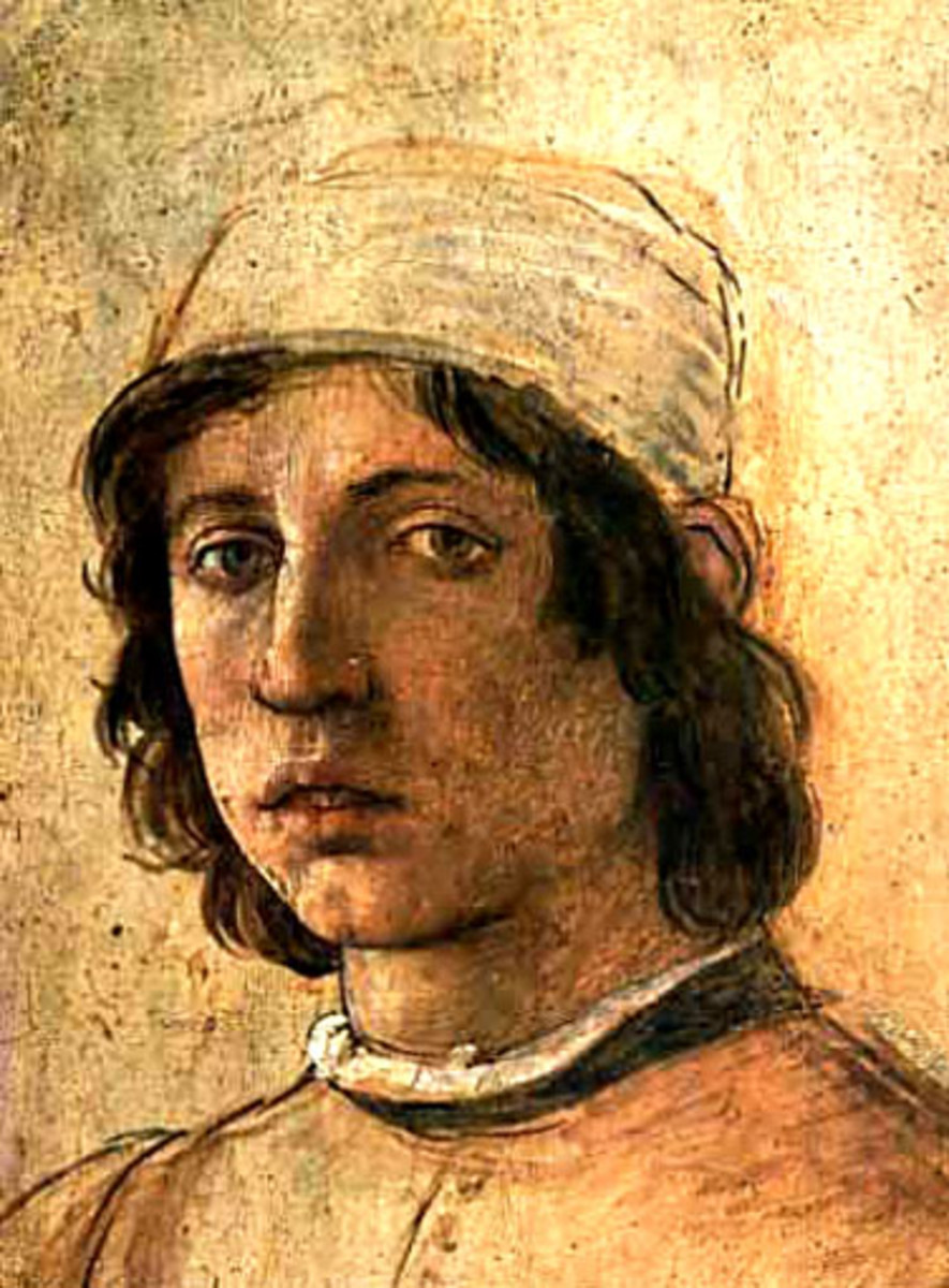 BOTTICELLI AS A YOUNG MAN (SELF PORTRAIT)