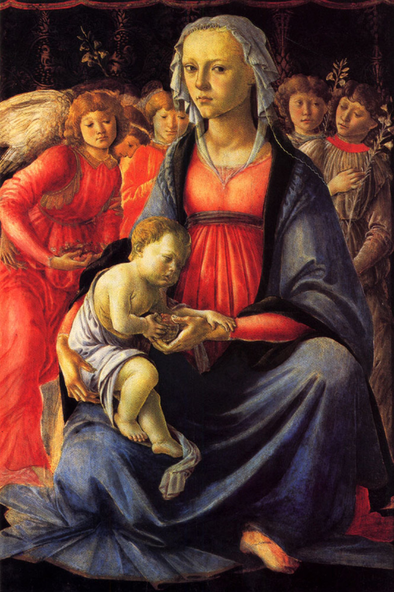 The Virgin and Child with Five Angels