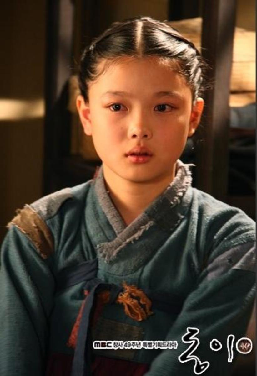 Little Choi Dong Yi played by talented Kim Yoo Jung imbc.com