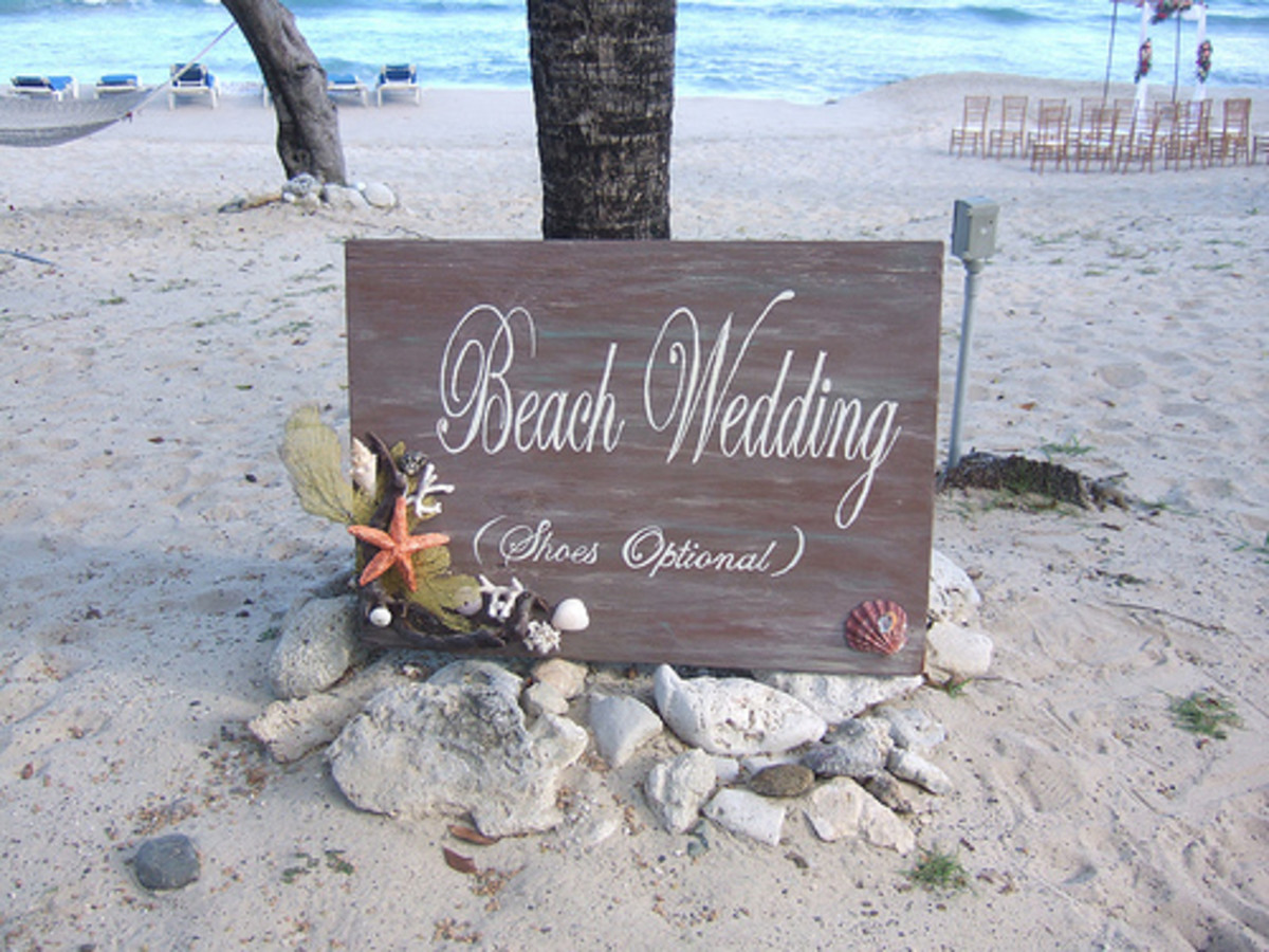 The beach wedding is the ultimate in romance and relaxation.