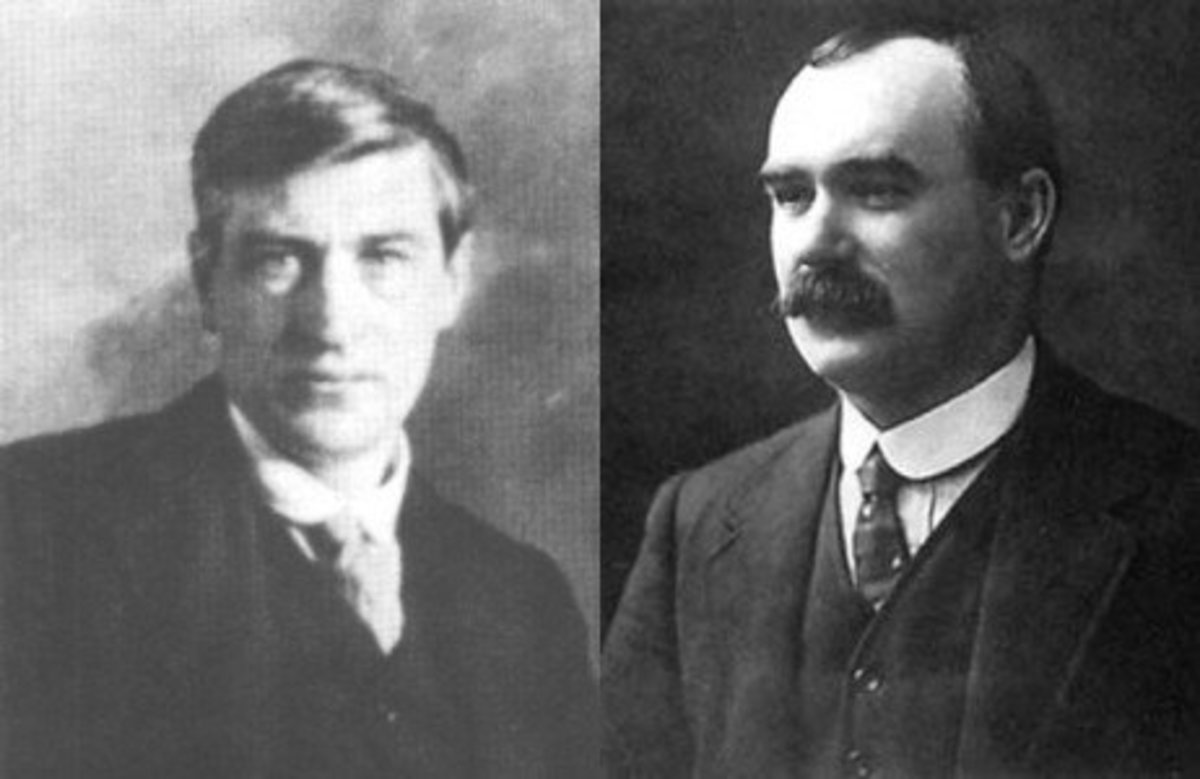 James Connolly and Jim Larkin - Dublin Lockout 1913
