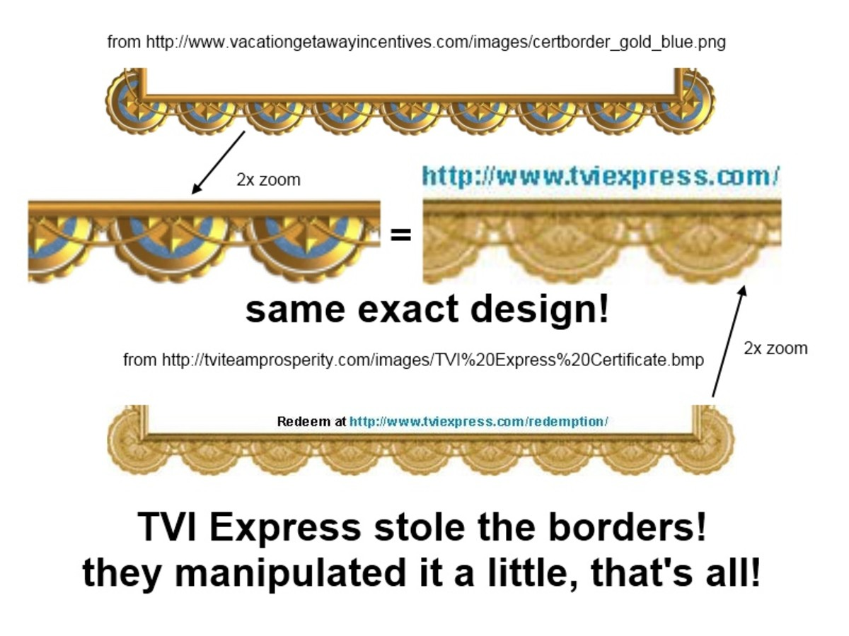 TVI Express stole certificate border from another website
