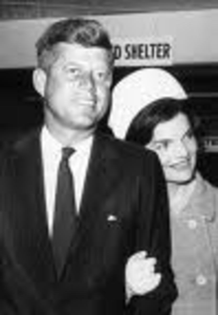 JFK and Jackie Kennedy wearing gloves