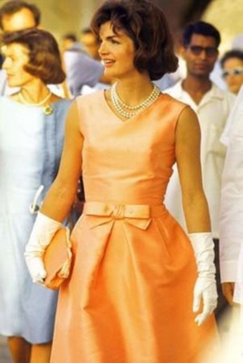 Jackie Kennedy wearing gloves