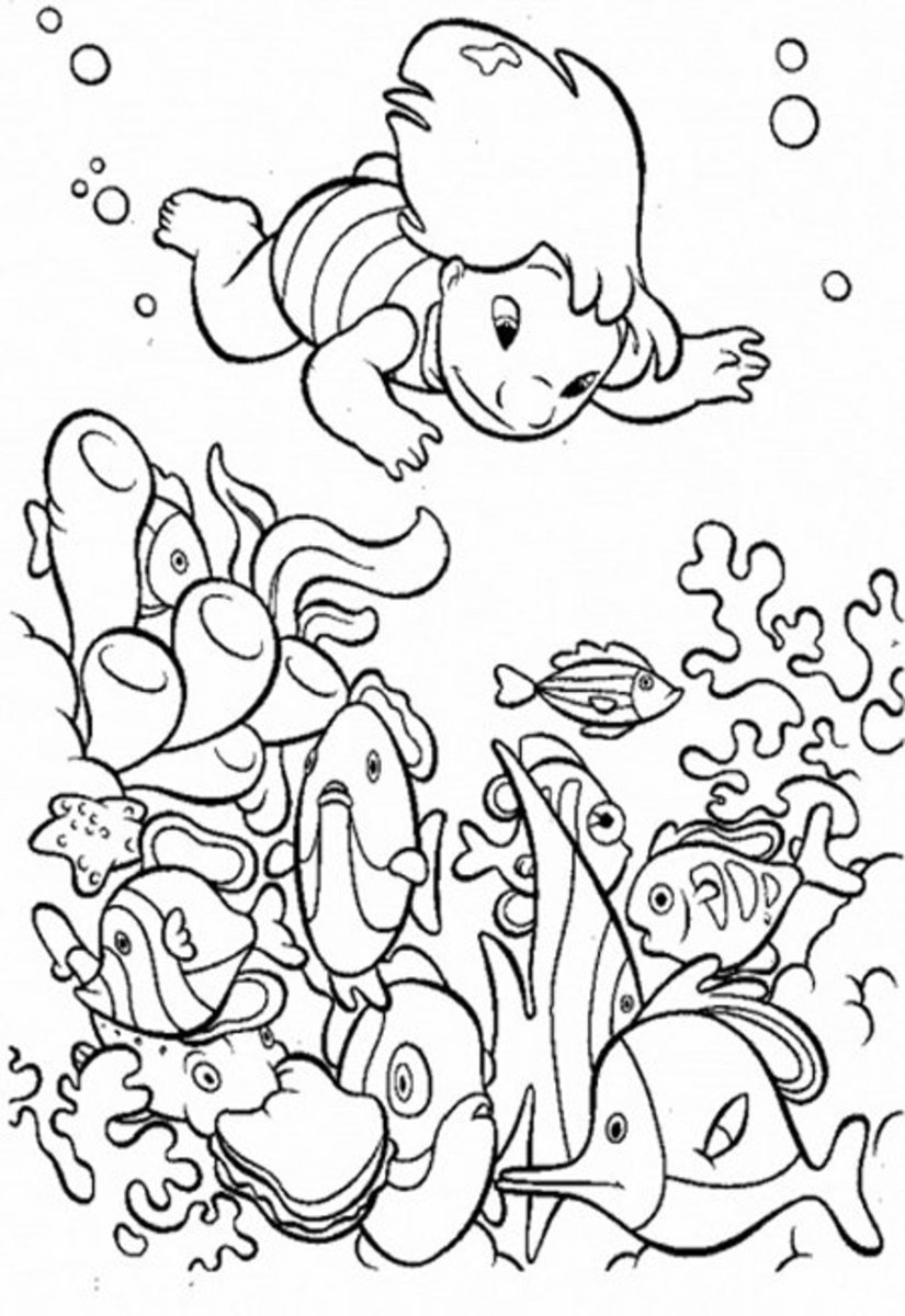 Under the Sea Creatures Coloring Pages and Free Colouring ...