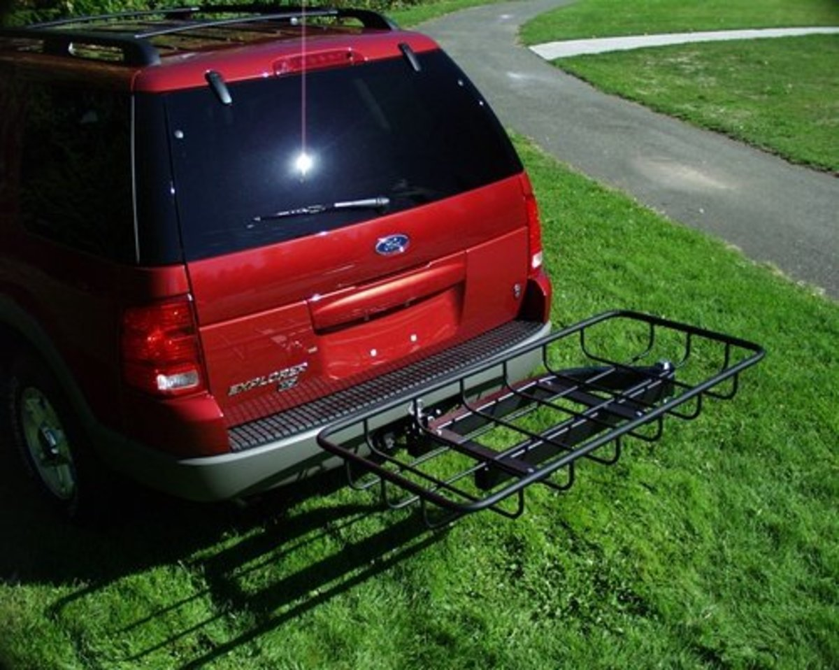 *Swingaway Cargo Carrier*    This cargo rack is perfect for carrying bulky items that won't fit in a box. Load your tray and swing it out for ultimate convenience.