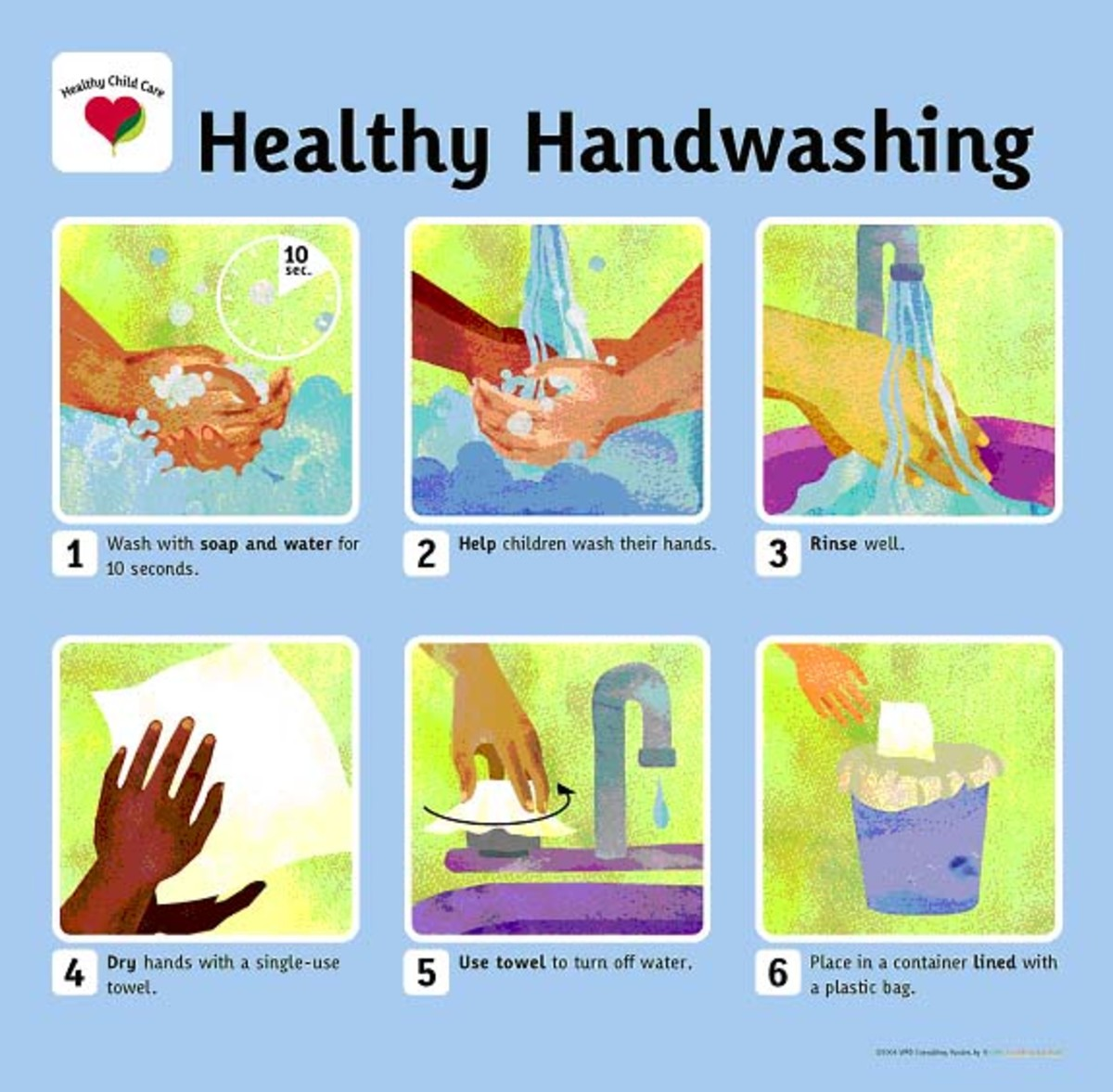 Healthy hand washing poster