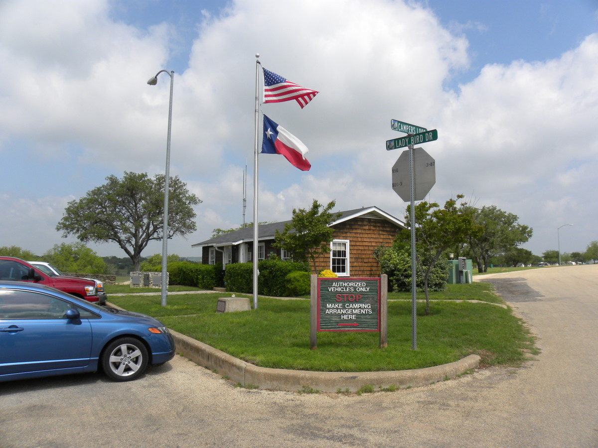 Lady Bird Johnson Municipal Park RV Office -  Fredericksburg TX