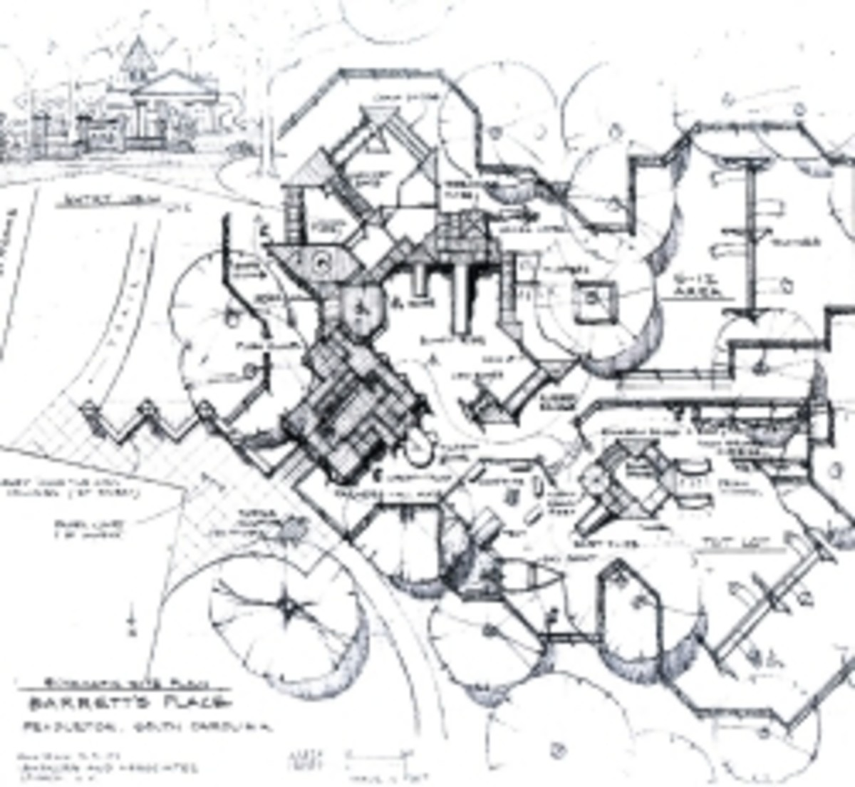 Barrett's Place Playground Drawing by Leathers and Associates