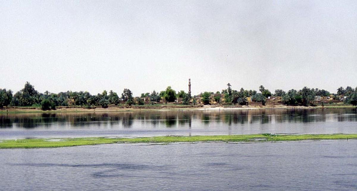 River Nile providing fertile land for crops