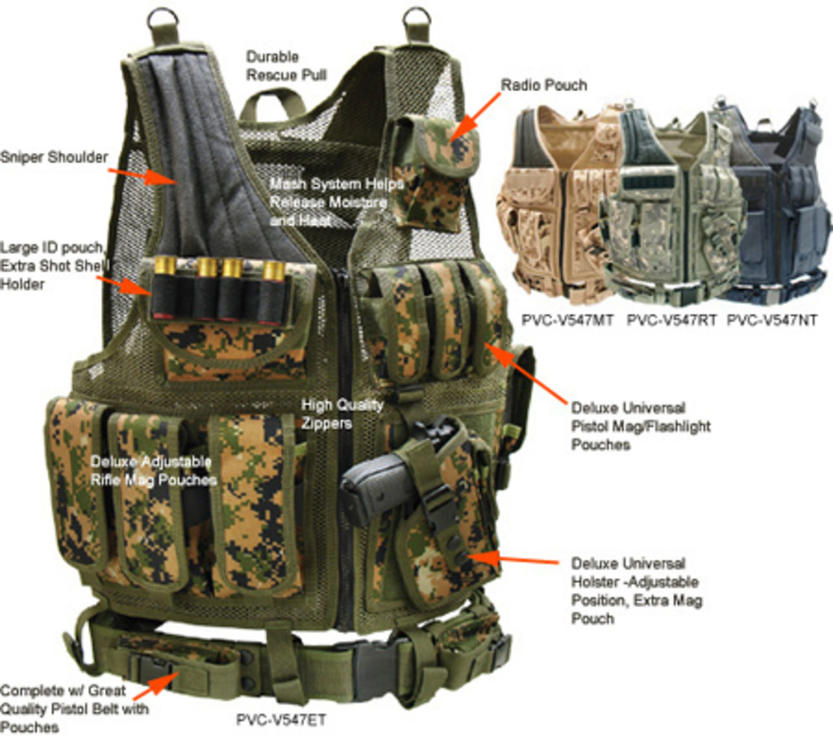 A UTG/Condor tactical vest. There are tons of versions of this vest on the market, in just about EVERY camo patern out there