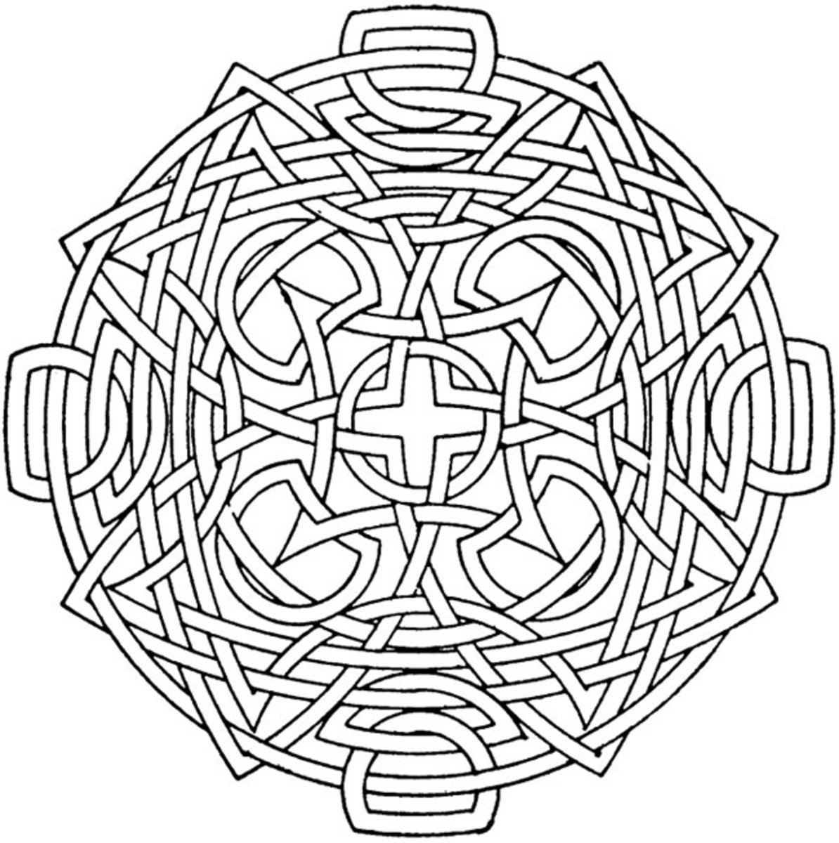 Circular Mandala Coloring Pages Free Colouring Pictures to Print