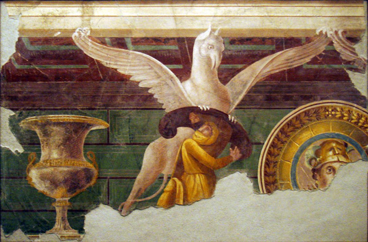 Roman fresco (60-50 BC)--Pompeii, Italy.