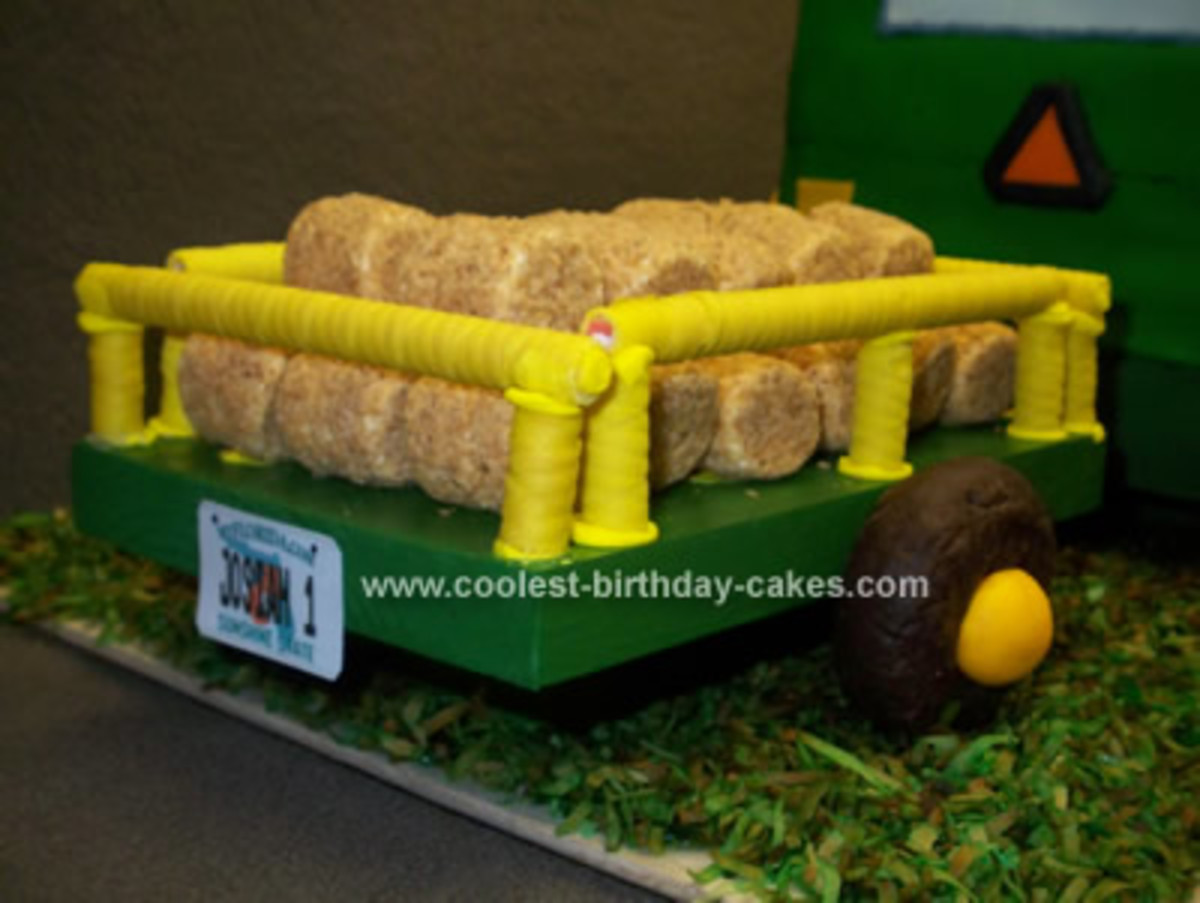 They Hay here was made using Rice Krispy Treats just rolled vs Square.  Photo Credit: Coolest-Birthday-Cakes.com