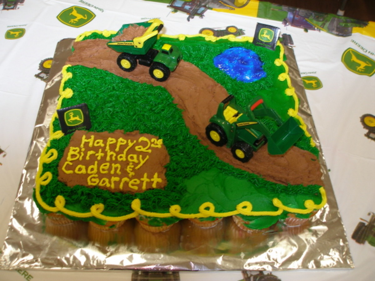 Remarkable John Deere Tractor Birthday Cake And Cupcake Ideas Hubpages Funny Birthday Cards Online Fluifree Goldxyz