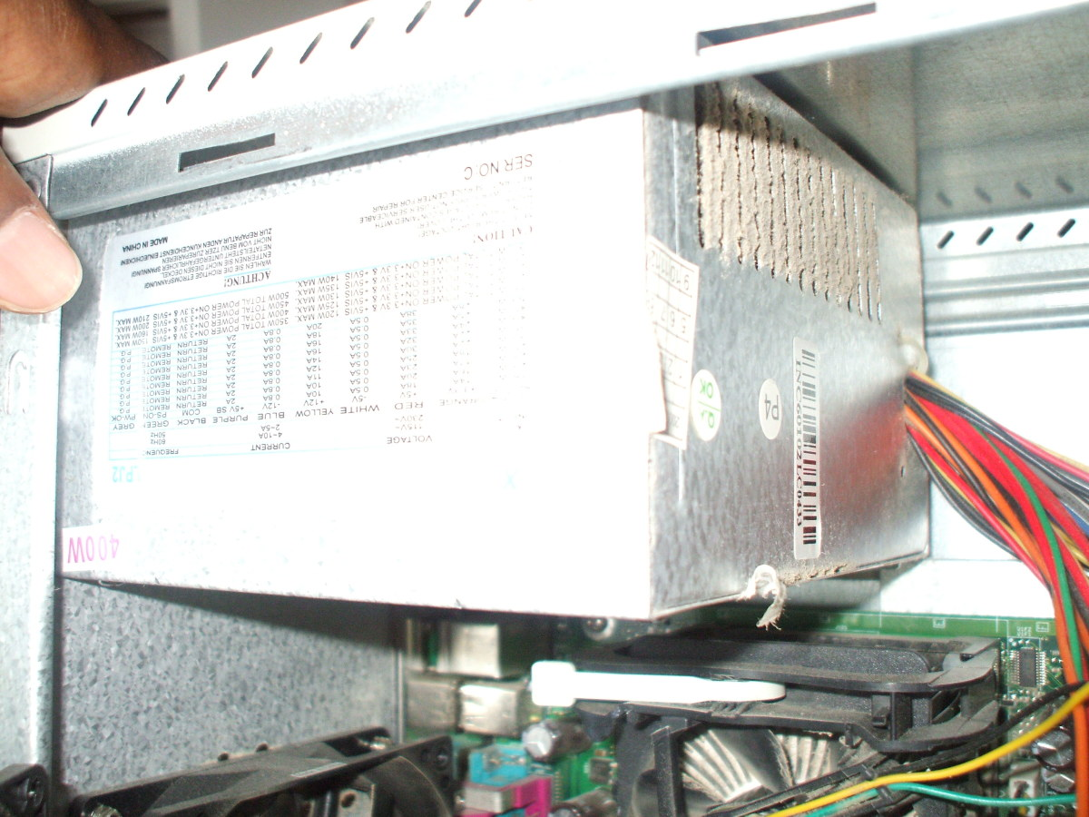 Power supply that needs cleaning