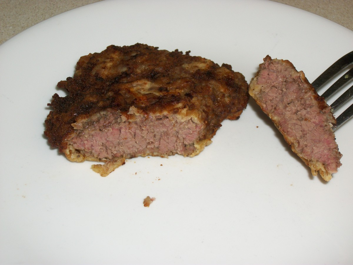 Piece of Fried Cubed Steak
