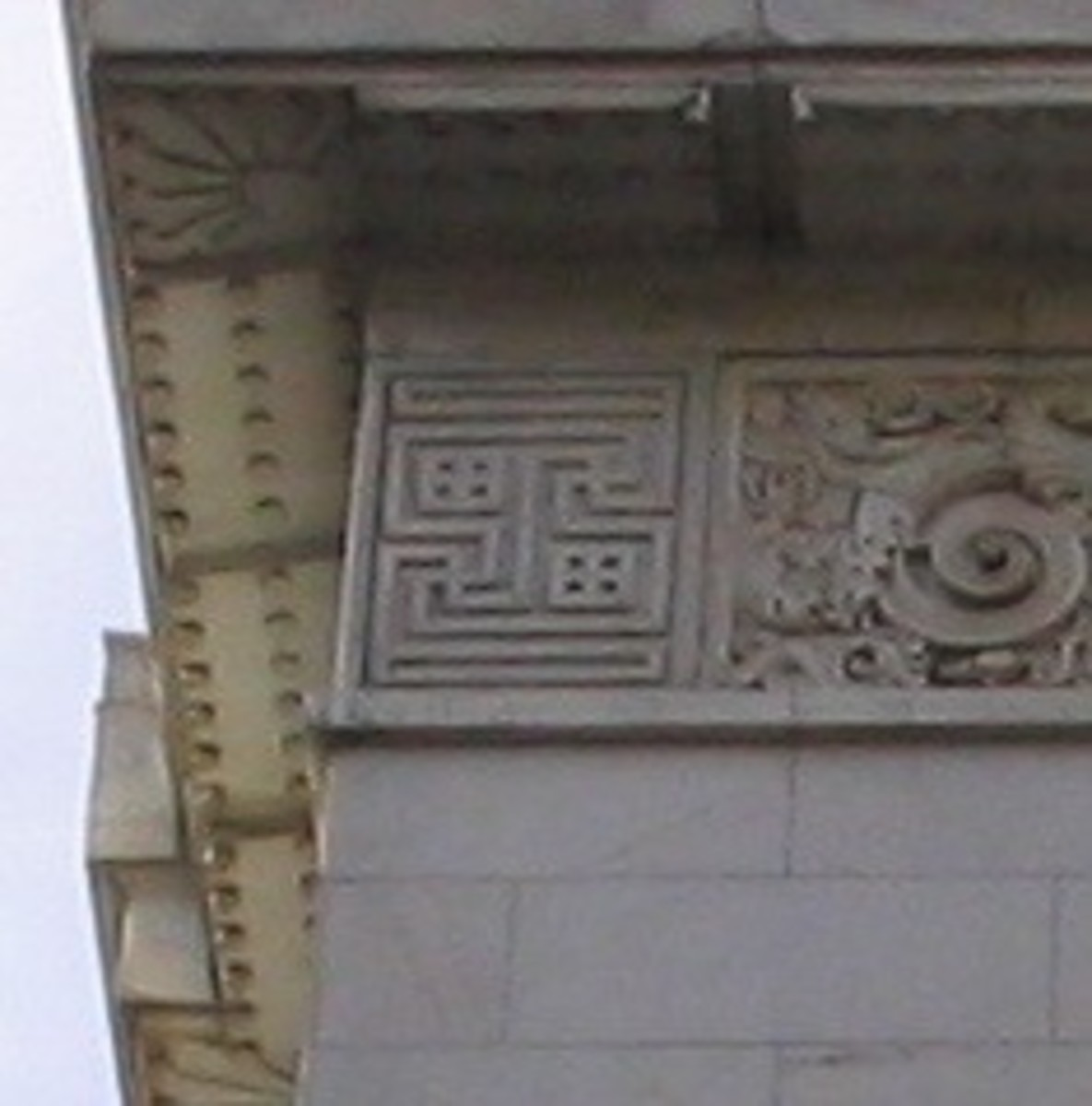 Swastikas on Bank of the West Building
