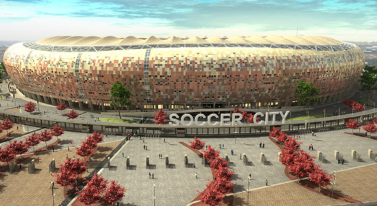 SOCCER CITY STADIUM IN JOHANNESBURG Americans do like soccer, contrary to what many around the world believe. American architects, though? Hard to say.. But even for the most soccer-agnostic architects, there are four good reasons to watch — or at le