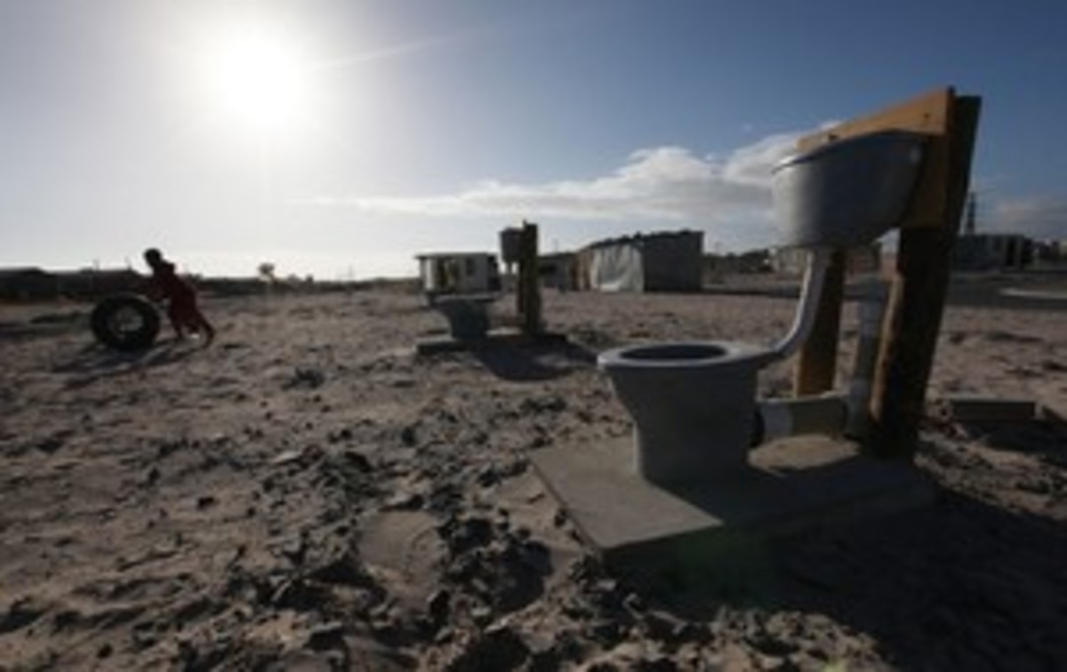 "One of the most thorny issues concerns the 'toilet wars"" in the eastern cape and other areas. These incomplete toilets are supposed to be used by the people and are part of the problems causing the rising protest storm in south Africa"