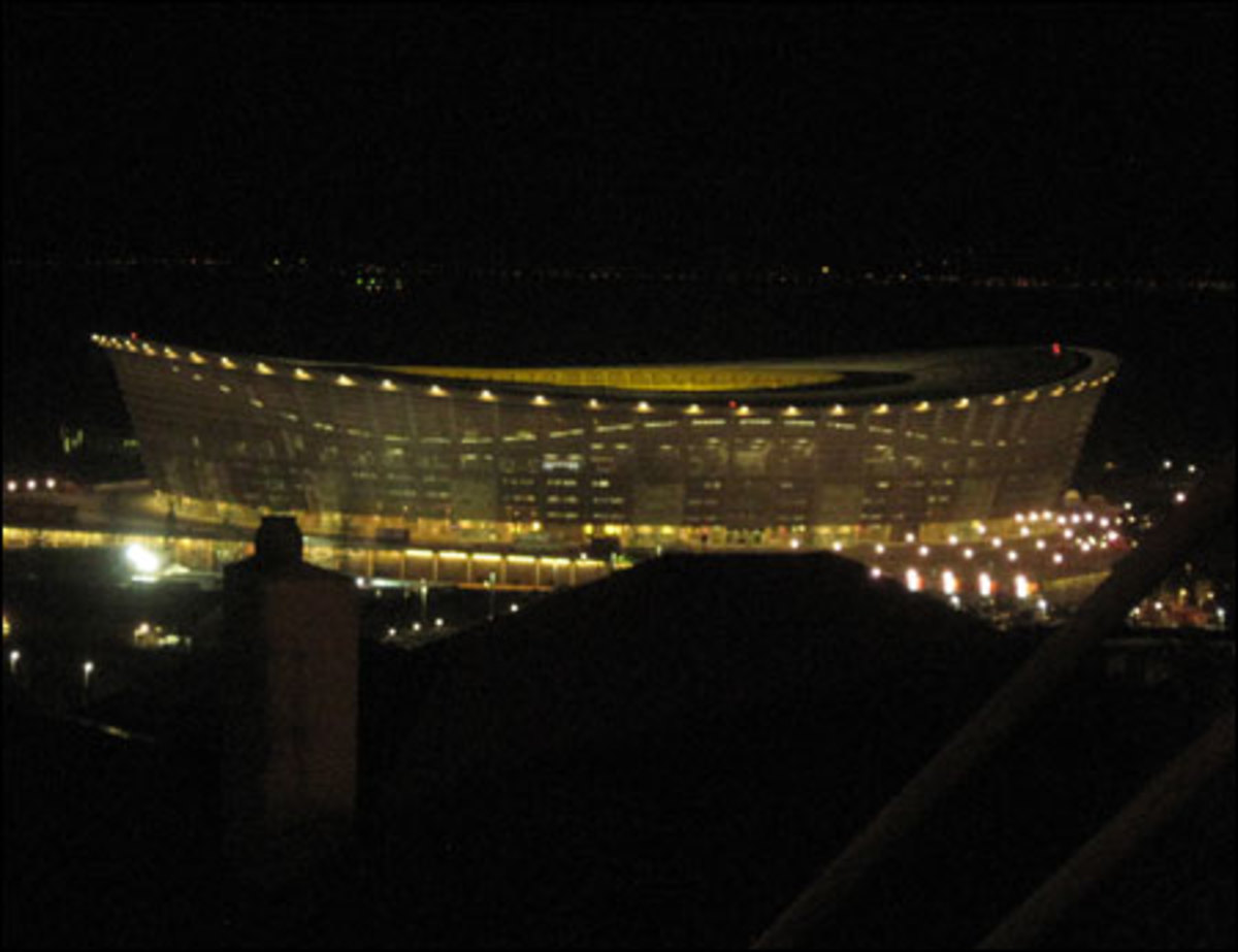 Cape Town's Green Point Stadium, newly built for the 2010 FIFA World Cup. At a cost of $773 million, this is the most expensive stadium built for the tournament.