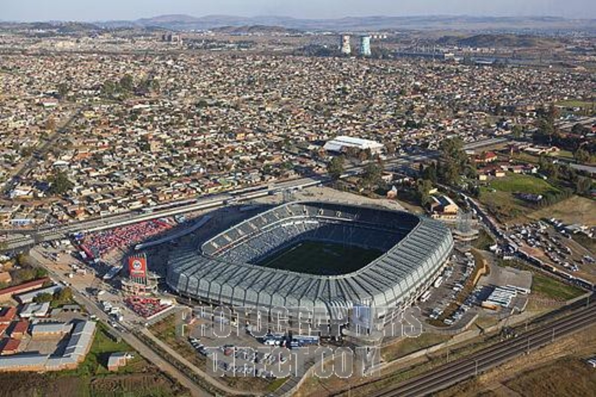 Orlando Stadium with the Township of Orlando in the Background