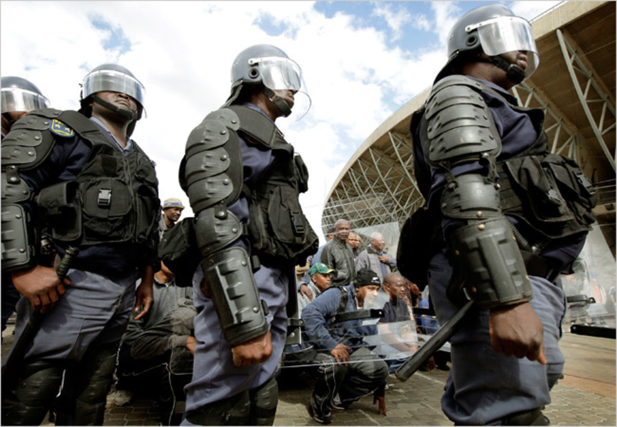 Riot Police hve been out in force during the World Cup and Confederation Cup