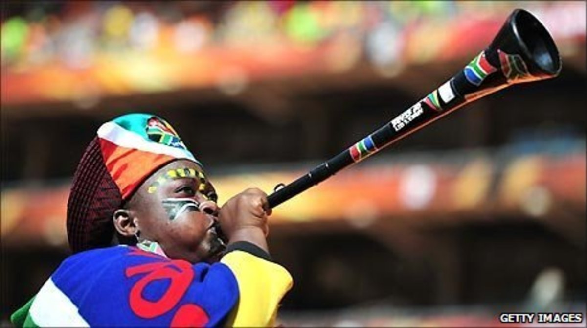 The Iconic VuvuZela and the Bright Colors worn and donned by the Africans of South Africa