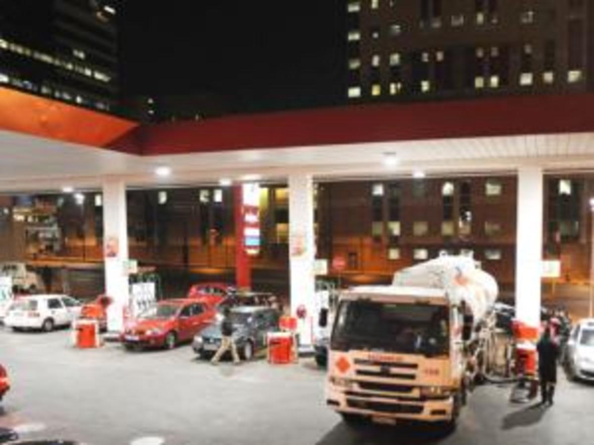250 garages out of petrol - and worse to come; the Braamfontein Total garage in Johannesburg was blessed as a tanker pulled up and delivered fuel on the 14th July 2011
