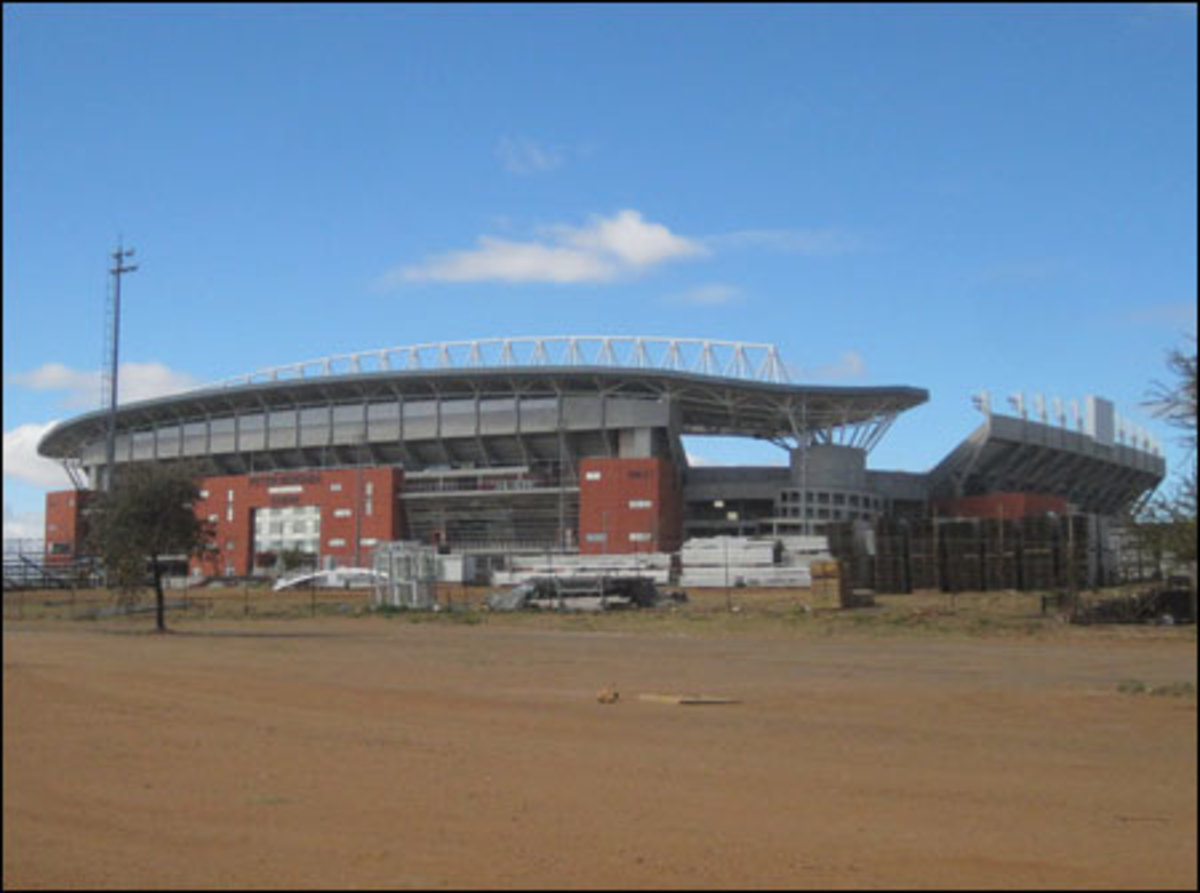 he brand new Peter Mokaba Stadium in Polokwane, one of the smaller host cities with roughly 500,000 people. There are concerns about how the city will contend with the costs of building and maintaining this new stadium.