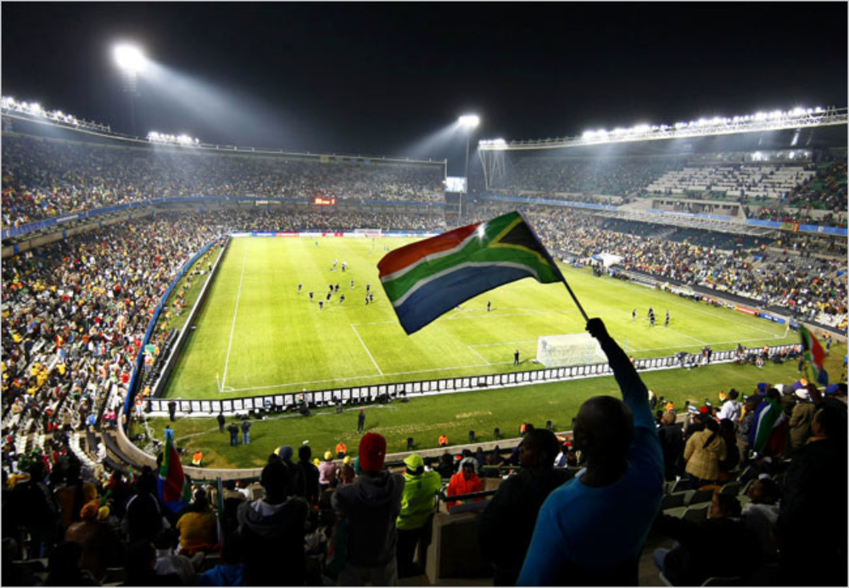Fans packed the stadium in Bloemfontein when host South Africa played Spain in the Confederation Cup