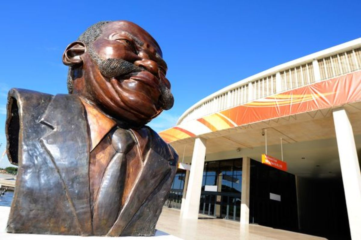 Wrong host? A statue of politician Moses Mabhida outside Durban's 2010 World Cup Stadium